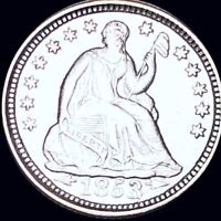 1853 SEATED HALF DIME APPEARS UNCIRCULATED PHILLY MS BU 10C