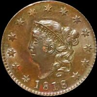 1818 CORONET HEAD LARGE CENT APPEARS UNCIRCULATED PHILLY MS BU 1C COPPER COIN NR