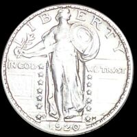 1920 S STANDING QUARTER APPEARS UNCIRCULATED SAN FRAN MS BU 25C LIBERTY SILVER