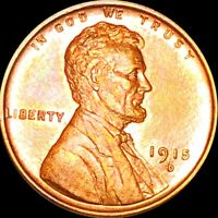 1915 D LINCOLN WHEAT PENNY GEMMY UNCIRCULATED DENVER MS BU S