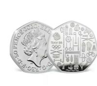 2020 TEAM GB TOKYO OLYMPICS 50P COIN   BUNC NEW FIFTY PENCE