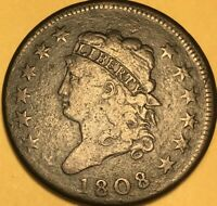 1808 CLASSIC HEAD LARGE CENT,  GOOD, S-277