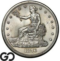 1876 S TRADE DOLLAR MINT LUSTER SHARP BRILLIANT UNCIRCULATED