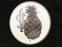 CAYMAN ISLANDS 1983 $1 PINEAPPLE SILVER CHOICE PROOF   MTG 1