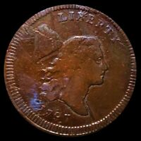 1797 LIBERTY CAP HALF CENT NICELY CIRCULATED PHILADELPHIA HIGH DETS 1/2C COPPER