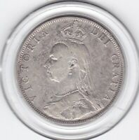 SHARP  1889   QUEEN  VICTORIA    FLORIN    2/     STERLING