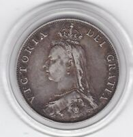 SHARP  1887   QUEEN  VICTORIA    FLORIN    2/     STERLING