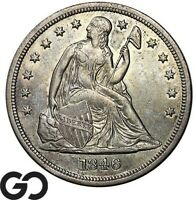 1846 SEATED LIBERTY DOLLAR WELL SOUGHT AFTER SILVER $ SERIES