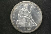 1872 PROOF LIBERTY SEATED DOLLAR, NEAR CHOICE PROOF WITH LIGHT CAMEO