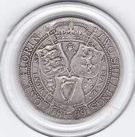 SHARP  1899   QUEEN  VICTORIA    FLORIN    2/     STERLING