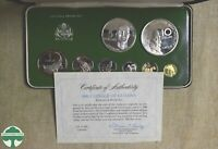 1980 GUYANA 8 PIECE PROOF SET WITH BOX AND PAPERS   ACTUAL S