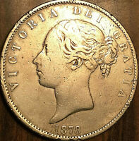 1878 GREAT BRITAIN VICTORIA SILVER HALF CROWN COIN   NICER EXAMPLE   CLEANED