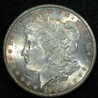 1902-S MORGAN DOLLAR:  MINT STATE, GOOD LUSTER,  LIGHT TONING.   DATE.