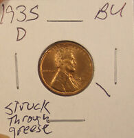 1935 D LINCOLN CENT BU.COMBINED SHIPPING $3.50..LOT5402