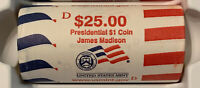 2007 JAMES MADISON DOLLAR DENVER $25 BU US MINT WRAPPED ROLL  CP8440