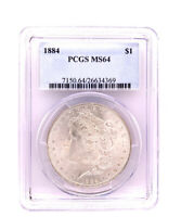 1884-P MORGAN SILVER DOLLAR PCGS MINT STATE 64