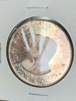 DOMINICAN REPUBLIC 500 PESOS 1976 PROOF JUAN CARLOS FIRST TR