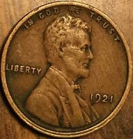1921 USA LINCOLN WHEAT SMALL CENT PENNY