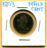 SCARCE 1803 DRAPED BUST HALF CENT   FREE SHIPPING
