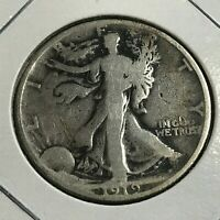 1919 SILVER WALKING LIBERTY HALF DOLLAR BETTER DATE