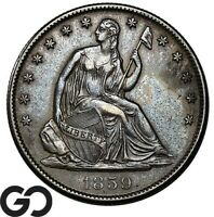 1859 O SEATED LIBERTY HALF DOLLAR COLLECTOR COIN NEW ORLEANS
