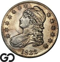 1832 CAPPED BUST HALF DOLLAR SHARP EARLY COLLECTOR SILVER 50