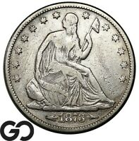 1873 SEATED LIBERTY HALF DOLLAR ARROWS BETTER DATE COLLECTOR