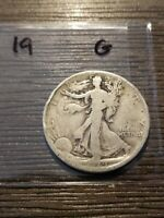 1919 WALKING LIBERTY SILVER HALF DOLLAR G