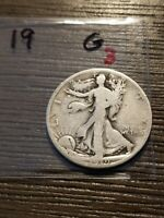 1919 WALKING LIBERTY SILVER HALF DOLLAR G LISTING 3