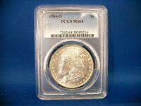 1904-0 MORGAN SILVER DOLLAR NEW ORLEANS MINT PCGS MINT STATE 64 CERTIFIED TONED