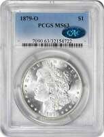 1879-O MORGAN SILVER DOLLAR MINT STATE 63 PCGS CAC