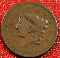 1837 CORNET HEAD LARGE CENT DECENT LOWER GRADE