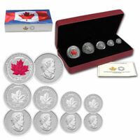 2015 CANADA FINE SILVER FRACTIONAL SET: THE MAPLE LEAF   LIM