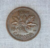 1940 CANADA ONE CENT COIN   SHARP &  SHIPS FREE