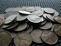 121 WHEAT CENTS FROM THE 1920'S AND 1940'S