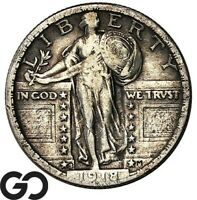 1918/17 S STANDING LIBERTY QUARTER HIGHLY COVETED KEY DATE M