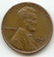 USA 1947D ONE CENT AMERICAN WHEAT CENT 1947 D 1 C 1C EXACT COIN