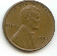 USA 1952D ONE CENT AMERICAN PENNY - 1952 D 1C EXACT COIN SHOWN