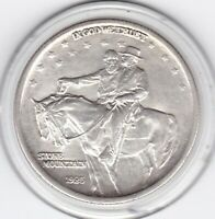 1925  STONE  MOUNTAIN  COMMEMORATIVE  HALF  DOLLAR   90  SIL