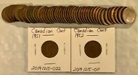CANADIAN CENTS COIN LOT BETWEEN 1945 AND 1968  LOT 20200524 004