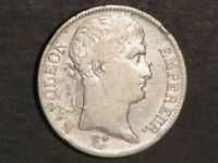 FRANCE 1811A 5 FRANCS NAPOLEON I SILVER CROWN F VF