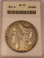 1901 MORGAN DOLLAR ANACS AU 55COMBINED SHIPPING..LOT5551