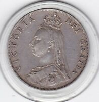 VERY  SHARP  1887   QUEEN  VICTORIA    FLORIN    2/     STERLING  SILVER   COIN