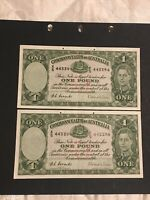 1 POUND  COOMBS/WILSON 1952 X 2 NEARLY CONSECUTIVE BEAUTIFUL