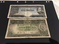 AUSTRALIA 1 AND 5  POUNDS  COOMBS/WILSON 1954