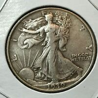 1939 SILVER WALKING LIBERTY HALF DOLLAR   COIN
