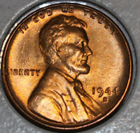 1944-S WHEAT CENT UNCIRCULATED BU RED [SN22]