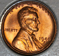 1944-S WHEAT CENT UNCIRCULATED BU RED [SN28]