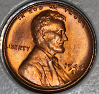 1944-S WHEAT CENT UNCIRCULATED BU RED [SN26]