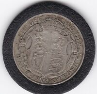 1920   KING  GEORGE  V   HALF  CROWN   2/6D     SILVER  COIN